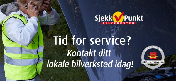 SjekkPunkt, Tid for service, bilverksted, reparasjon, service