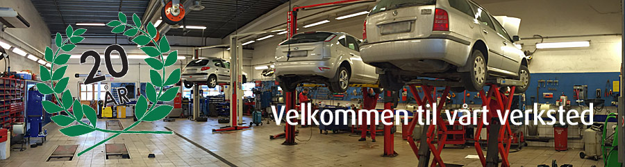 Bilen din, bilverksted, service, reparasjon, service, 20 år